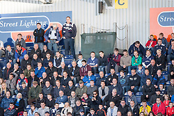 South stand at the start.<br /> Falkirk 1 v 1 Hamilton, Scottish Premiership play-off semi-final first leg, played 13/5/2014 at the Falkirk Stadium.