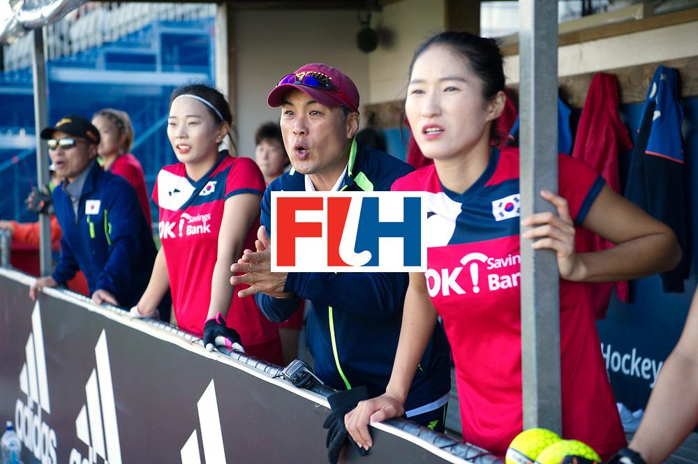 AUCKLAND - Sentinel Hockey World League final women<br /> Match id: 10303<br /> 13 GER v KOR (QF) 3-3<br /> Korea in to semi after shoot out.<br /> Foto:  Korean staf exciting <br /> WORLDSPORTPICS COPYRIGHT FRANK UIJLENBROEK