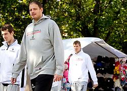 Raso Nesterovic of National basketball team of Slovenia walking at Laisves Al. in Kaunas city centre during FIBA Europe Eurobasket Lithuania 2011, on September 14, 2011, in Kaunas, Lithuania.  (Photo by Vid Ponikvar / Sportida)
