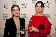 BIANCA LUZI; RAISSA VERHAEGHE,  ( RAF SIMONS) Wallpaper Design Awards 2012. 10 Trinity Square<br /> London,  11 January 2011.