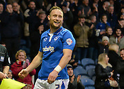 Portsmouth defender Ben Davies provided the cross for Hartlepool United Defender Adam Jackson own goal during the Sky Bet League 2 match between Portsmouth and Hartlepool United at Fratton Park, Portsmouth, England on 12 December 2015. Photo by Adam Rivers.