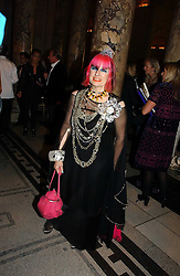 ZANDRA RHODES  at the British Fashion Awards 2006 sponsored by Swarovski held at the V&A Museum, Cromwell Road, London SW7 on 2nd November 2006.<br />