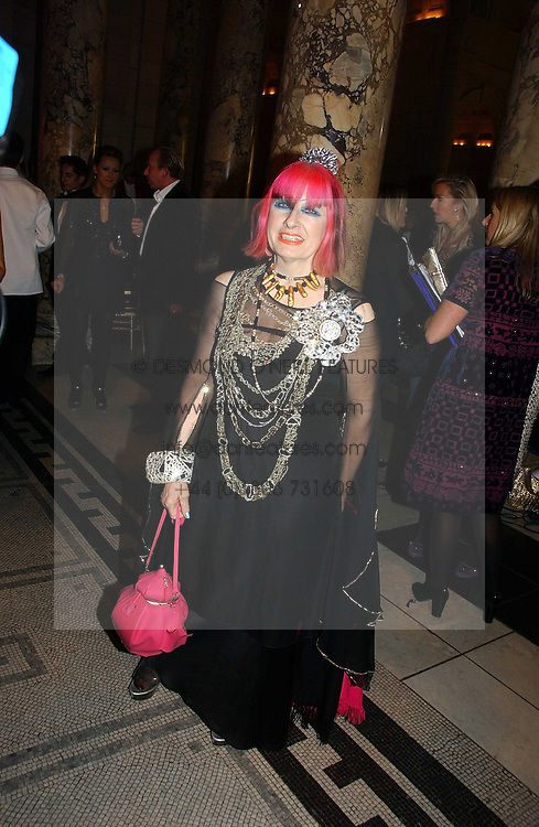 ZANDRA RHODES  at the British Fashion Awards 2006 sponsored by Swarovski held at the V&A Museum, Cromwell Road, London SW7 on 2nd November 2006.<br /><br />NON EXCLUSIVE - WORLD RIGHTS
