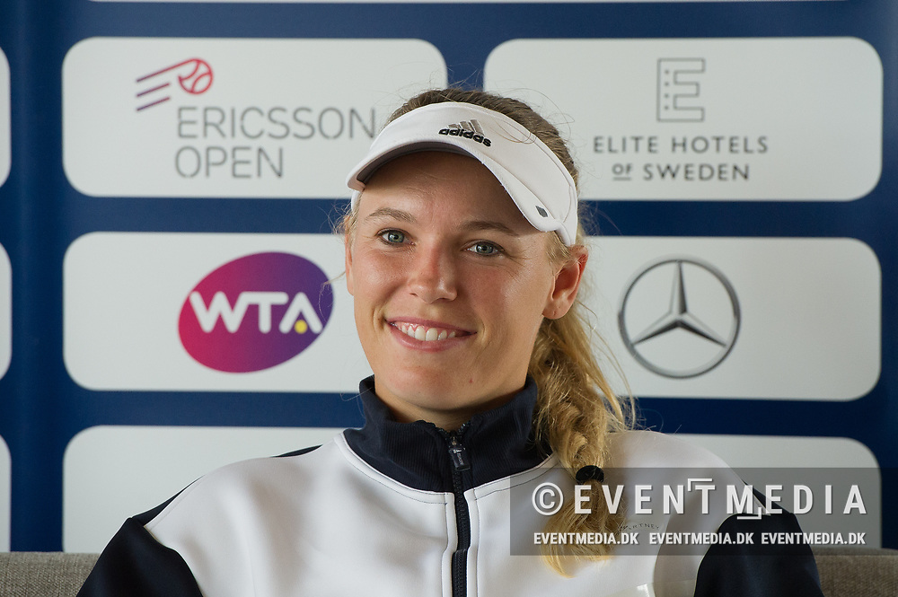 Caroline Wozniacki (Denmark) at the 2017 WTA Ericsson Open in Båstad, SWEDEN, July 25, 2017. Photo Credit: Katja Boll/EVENTMEDIA.