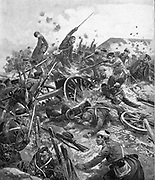 Russo-Japanese War 1904-1905:  Japanese troops storming the Russian-held 203-metre Fort, 19 September 1904.