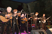 Israel, the Abrams Brothers and Mike scott Blue Grass and Gospel on stage at the Jacobs ladder Music festival Nof Ginosar May 2007. Night shot