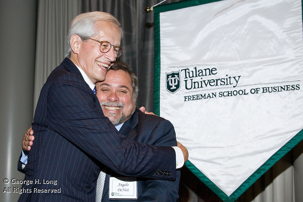 James J. Reiss, Jr. receives the 2008 Tulane Distinguished Entrepreneur Award at the Tulane Council of Entrepreneurs Gala Awards