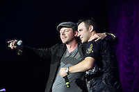 Simon Pegg and Joe Calzaghe, Rockwell Concert
