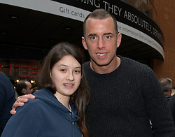 Bristol City's Aaron Wilbraham has his photo taken with a fan - Photo mandatory by-line: Dougie Allward/JMP - Mobile: 07966 386802 - 11/03/2015 - SPORT - Football - Bristol - Cabot Circus Shopping Centre - Johnstone's Paint Trophy