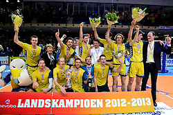 30-03-2013 VOLLEYBAL: LANDSTEDE VOLLEYBAL - ABIANT LYCURGUS: ZWOLLE<br /> 5de Play-off finale best of 5 - Landstede kampioen 2012-2013<br /> &copy;2013-FotoHoogendoorn.nl