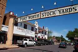 Entrance to Fort Worth Stock Yards on Exchange St, Ft. Worth, Texas, United State of America
