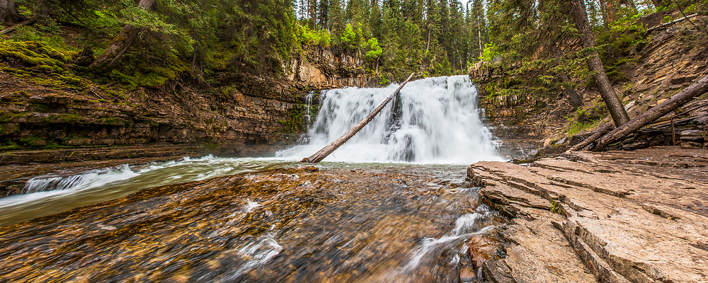 A waterfall in Big Sky Montana. Limited Edition - 150