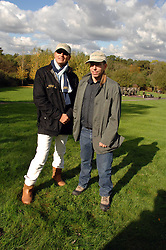 Left to right, JULIAN METCALFE and JONATHAN NEWHOUSE at the Finch & Partners Clay Pigeon Shoot in aid of Battersea Dogs Home at the Holland & Holland Shooting Ground, Ruislip, Middlesex on 17th October 2007.<br />