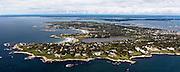 Ocean Drive Newport mansion aerial photo.