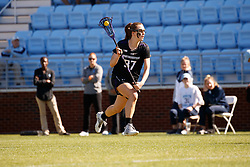 CHAPEL HILL, NC - MARCH 02: Carson Copeland #37 of the Northwestern Wildcats during a game against the North Carolina Tar Heels on March 02, 2019 at the UNC Lacrosse and Soccer Stadium in Chapel Hill, North Carolina. North Carolina won 11-21. (Photo by Peyton Williams/US Lacrosse)