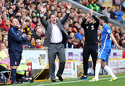 Peterborough United Manager Graham Westley shouts instructions from the touchline - Mandatory byline: Joe Dent/JMP - 07966386802 - 26/09/2015 - FOOTBALL - Coral Windows Stadium -Bradford,England - Bradford City v Peterborough United - Sky Bet League One