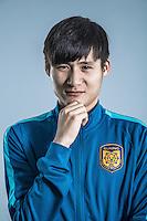 Portrait of Chinese soccer player Zhou Yun of Jiangsu Suning F.C. for the 2017 Chinese Football Association Super League, in Nanjing city, east China's Jiangsu province, 27 February 2017.