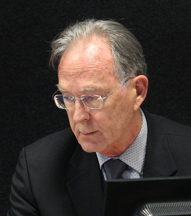 """David Coatsworth gives evidence at the Royal Earthquake Commission inquiry into the collapse of the CTV building, Christchurch, New Zealand, Wednesday, July 04, 2012. Credit:SNPA / The Press, Stacey Squires  """"POOL"""""""""""