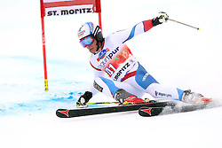 02.02.2014, Corviglia, St. Moritz, SUI, FIS Weltcup Ski Alpin, Riesenslalom, Herren, im Bild Gino Caviezel (SUI) // during the Mens Giant Slalom of the St. Moritz FIS Ski Alpine World Cup at the Corviglia course in St. Moritz, Switzerland on 2014/02/02. EXPA Pictures © 2014, PhotoCredit: EXPA/ Freshfocus/ Claude Diderich<br /> <br /> *****ATTENTION - for AUT, SLO, CRO, SRB, BIH, MAZ only*****