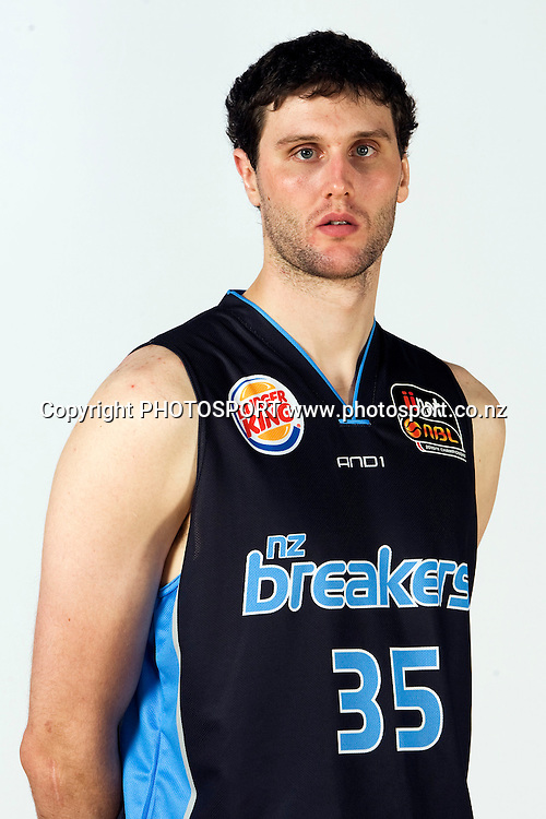 Alex Pledger. New Zealand Breakers headshots for the 2010 ANBL basketball season. Breakers Gym, North Shore, Auckland. 24 September 2010. Photo: William Booth/photosport.co.nz