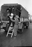 Army Lorries Help out during Bus Strike.<br /> 09.04.1963