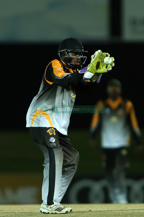 Siyosile Pono of Boland during the Africa T20 cup pool D match between Boland and Eastern Province held at the Boland Park cricket ground in Paarl on the 24th September 2016.<br /> <br /> Photo by: Shaun Roy/ RealTime Images