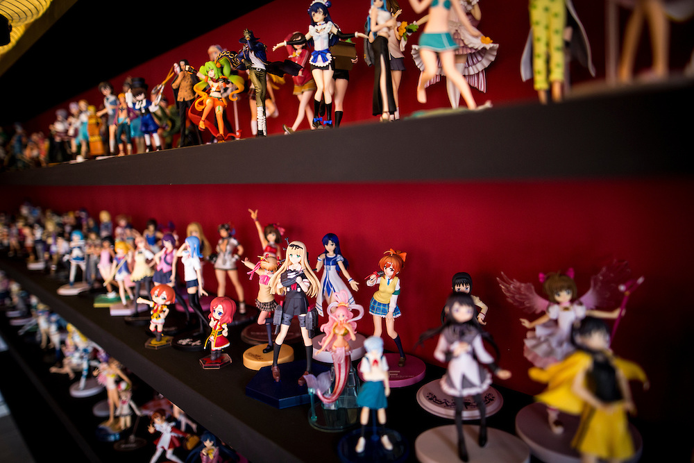 "TOKYO, JAPAN - JUNE 27 : Anime figures displayed at the entrance of Akihabara shrine in Akihabara, Tokyo, Japan on June 27, 2016.  A newly opened Akihabara Shrine offers a memorial services for ""deceased"" anime figures. Photo by Richard Atrero de Guzman"