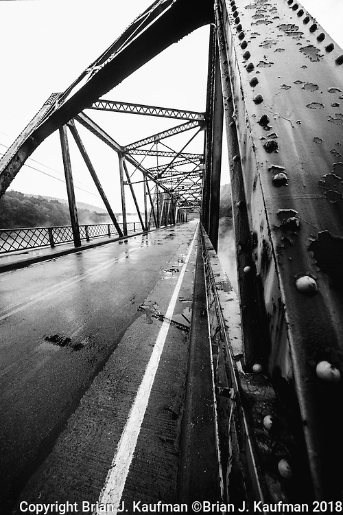 This steel bridge crosses the West Branch of The Susquehanna river in central Pennsylvania.