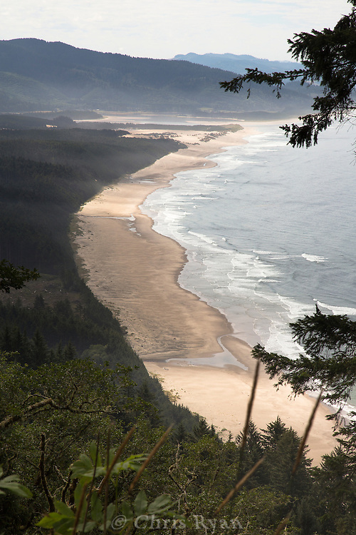 View down onto the Oregon coast