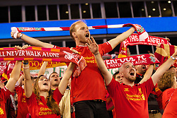 CHARLOTTE, USA - Saturday, August 2, 2014: Liverpool's supporters after the 2-0 victory  over AC Milan during the International Champions Cup Group B match at the Bank of America Stadium on day thirteen of the club's USA Tour. (Pic by Mark Davison/Propaganda)