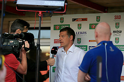 West Ham United manager Slaven Bilic conducts an interview - Mandatory by-line: Paul Roberts/JMP - 23/08/2017 - FOOTBALL - LCI Rail Stadium - Cheltenham, England - Cheltenham Town v West Ham United - Carabao Cup