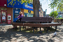 20 April 2020 Rotherham South Yorkshire - Week 5 of the UK emergency measures to combat the Coronavirus Covid-19 Pandemic. Junction of All Saints Square and College Street<br /> <br /> 20 April 2020<br /> <br /> www.pauldaviddrabble.co.uk<br /> All Images Copyright Paul David Drabble - <br /> All rights Reserved - <br /> Moral Rights Asserted -