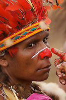 Woman from Chimbu Province, Papua New Guinea..
