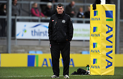 Exeter Chiefs Head Coach Rob Baxter  - Photo mandatory by-line: Harry Trump/JMP - Mobile: 07966 386802 - 14/02/15 - SPORT - Rugby - Aviva Premiership - Sandy Park, Exeter, England - Exeter Chiefs v Newcastle Falcons