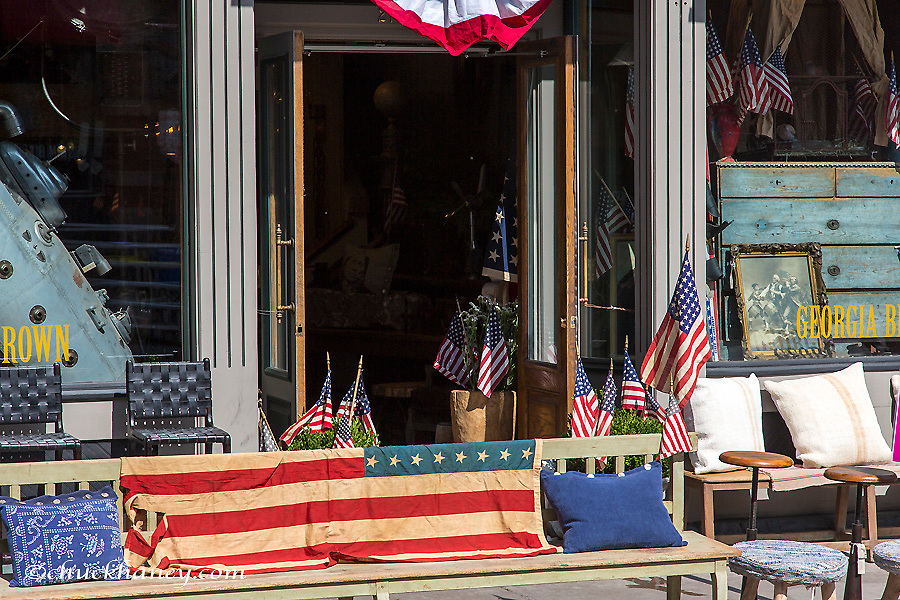Storefront on the 4th of July in Aspen. Colorado, USA