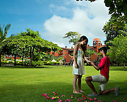 A surprise proposal during couple portraits at the beautiful Los Suenos Marriott Golf Course and Marina in Costa Rica Photographers in Costa Rica