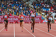 Women's 200m, won by Shaunae MILLER-UIBO of the Bahamas during the Muller Grand Prix 2018 at Alexander Stadium, Birmingham, United Kingdom on 18 August 2018. Picture by Toyin Oshodi.
