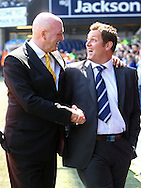 Ipswich - Sunday Aprll 19th 2009: Ipswich v Norwich. Coca Cola League Championship match at Portman Road, Ipswich. (Pic by Paul Chesterton/Focus Images) nor 23 ips 20Ipswich - Sunday Aprll 19th 2009:Norwich Manager Bryan Gunn and Ipswich Manager Jim Magilton. Coca Cola League Championship match at Portman Road, Ipswich. (Pic by Paul Chesterton/Focus Images) nor 23 ips 20