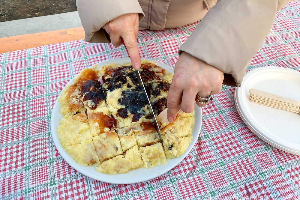Frico - a potato and cheese traditional Italian dish