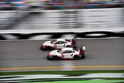 January 24-28, 2018. IMSA Weathertech Series ROLEX Daytona 24. 912 Porsche GT Team, Porsche 911 RSR, Laurens Vanthoor, Earl Bamber, Gianmaria Bruni, 911 Porsche GT Team, Porsche 911 RSR, Patrick Pilet, Nick Tandy, Frederic Makowiecki