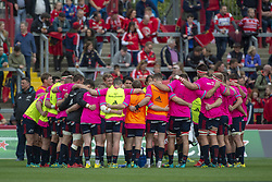 October 20, 2018 - Limerick, Ireland - Munster rugby players during the Heineken Champions Cup match between Munster Rugby and Gloucester Rugby at Thomond Park in Limerick, Ireland on October 20, 2018  (Credit Image: © Andrew Surma/NurPhoto via ZUMA Press)