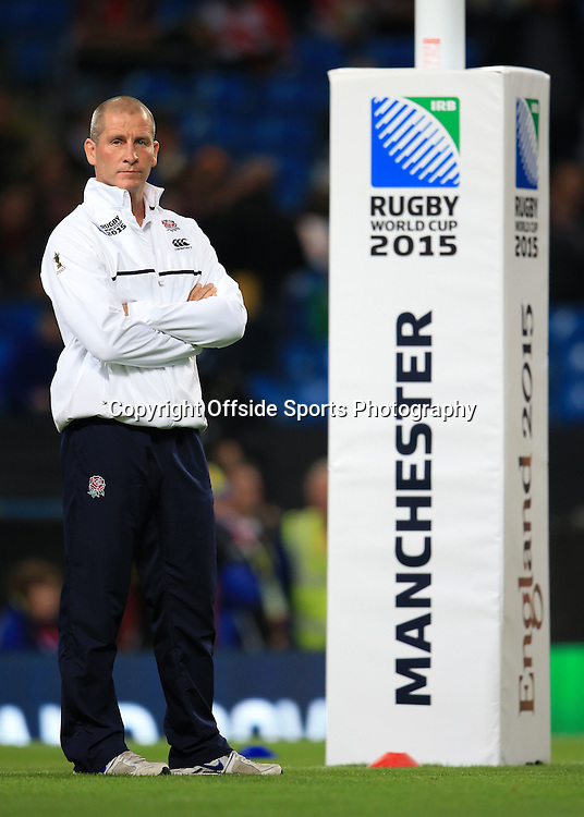 10th October 2015 - Rugby World Cup (Pool A) - England v Uruguay - England coach Stuart Lancaster - Photo: Simon Stacpoole / Offside.