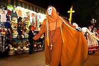 Dia de Los Muertos Novenaria (Day of the Dead Procession) at Olvera Street, Los Angeles, California