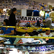 VENEZUELAN POLITICS / POLITICA EN VENEZUELA<br /> Hunger strike by students at the doors of the OEA / Huelga de hambre de estudiantes en la puertas de la OEA<br /> Caracas - Venezuela 2009<br /> (Copyright © Aaron Sosa)