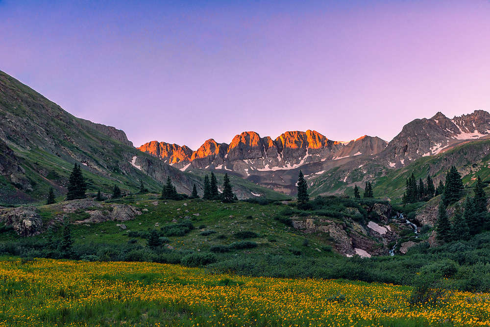 This picture was taken at American Basin during sunrise.<br />