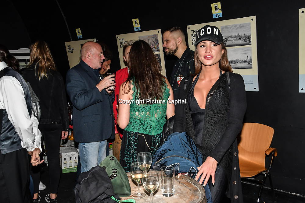 Skye Lycett is a model attend Press night an halloween experience at  London Tombs at The London Bridge Experience, UK. 18 October 2018.