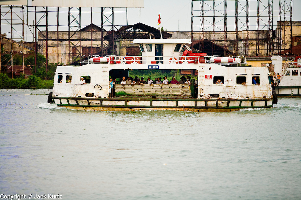 08 MARCH 2006 - A passenger ferry on the Saigon River in Ho Chi Minh City (formerly Saigon). Photo by Jack Kurtz