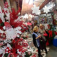Christmas decor adorns Ruth's Warehouse.