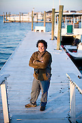 Captain Joe at the dock in Wrightsville.