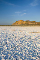 Mineral deposits on dry lakebed of Harney Lake, Malheur National Wildlife Refuge, Oregon